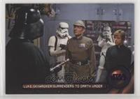 Luke Skywalker surrenders to Darth Vader /99