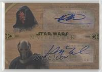 Ray Park as Darth Maul, Matthew Wood as General Grievous #/10