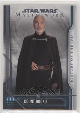 2018 Topps Star Wars Masterwork - History of the Jedi #HJ-3 - Count Dooku