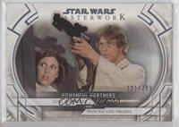 Luke Skywalker and Princess Leia Organa #/299