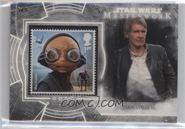 2018 Topps Star Wars Masterwork - Stamp Cards - Black #S-MH - Maz Kanata's Castle! (Han Solo) /5