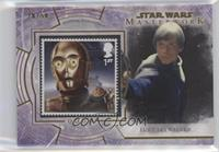 Luke Skywalker - C-3PO and Jabba the Hutt's Palace #/50