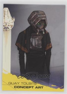 2018 Topps Star Wars: Solo - [Base] - Yellow #91 - Quay Tolsite Concept Art