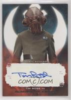 Tim Rose as Admiral Ackbar #/99