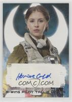 Hermione Corfield as A-Wing Pilot Tallie Lintra