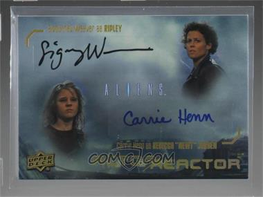 2018 Upper Deck Aliens Movie - Actor Reactor Dual Autographs #DR-RN - Achievement - Sigourney Weaver, Carrie Henn