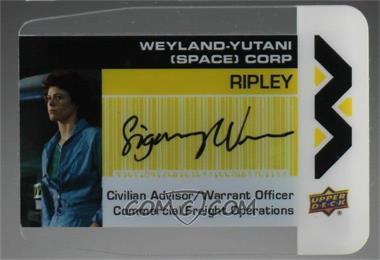 2018 Upper Deck Aliens Movie - WY Plexi Business Cards - Autographs [Autographed] #WY-RI - Sigourney Weaver
