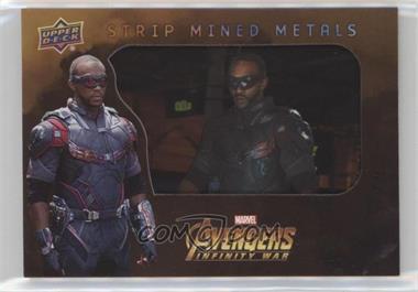 2018 Upper Deck Avengers Infinity War - Strip Mined Metals #SMM1 - Falcon