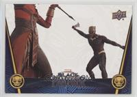 Okoye Takes on Killmonger #/50
