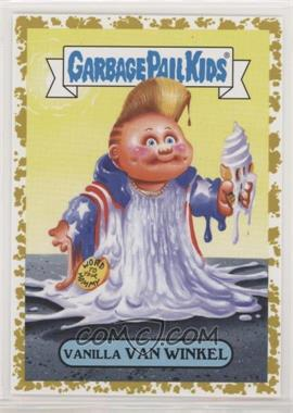2019 Topps Garbage Pail Kids: We Hate the '90s - '90s Music & Celebrities Sticker - Fool's Gold #1b - Vanilla Van Winkel /50