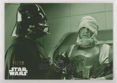 2019 Topps Star Wars Black and White: Empire Strikes Back - [Base] - Green #66 - Darth Vader & Dengar /99