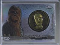Chewbacca (C-3PO featured on Medallion) [EXtoNM] #/99