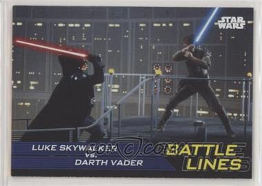 2019 Topps Star Wars: Journey to The Rise of Skywalker - Battle Lines #BL-7 - Luke Skywalker vs. Darth Vader