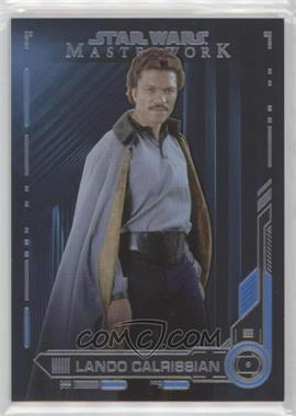 2019 Topps Star Wars Masterwork - [Base] - Blue #5 - Lando Calrissian