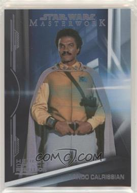 2019 Topps Star Wars Masterwork - Heroes of the Rebellion - Rainbow Foil #HR-7 - Lando Calrissian /299