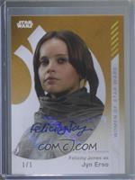 Felicity Jones as Jyn Erso /1