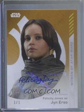 2019 Topps Star Wars On Demand - Autographs - Gold #3G-A - Felicity Jones as Jyn Erso /1