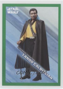 2019 Topps Star Wars Rise of Skywalker Series 1 - Illustrated Characters - Green #IC-5 - Lando Calrissian /299