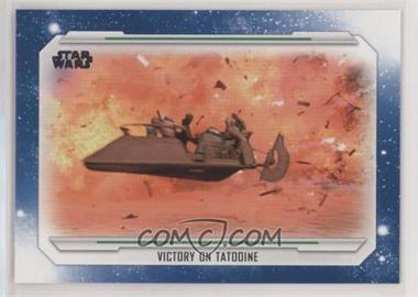 2019 Topps Star Wars Skywalker Saga - [Base] - Blue #69 - Victory on Tatooine