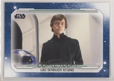 2019 Topps Star Wars Skywalker Saga - [Base] - Blue #72 - Luke Skywalker Returns