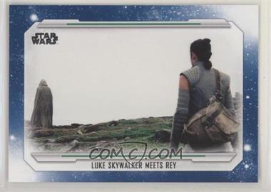 2019 Topps Star Wars Skywalker Saga - [Base] - Blue #92 - Luke Skywalker Meets Rey