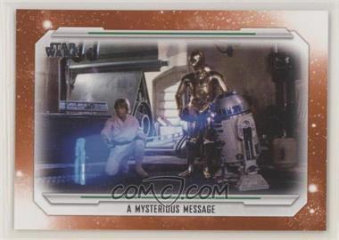 2019 Topps Star Wars Skywalker Saga - [Base] - Orange #41 - A Mysterious Message