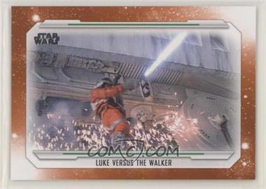 2019 Topps Star Wars Skywalker Saga - [Base] - Orange #59 - Luke Versus the Walker