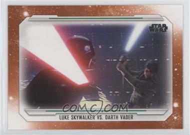 2019 Topps Star Wars Skywalker Saga - [Base] - Orange #63 - Luke Skywalker Vs. Darth Vader