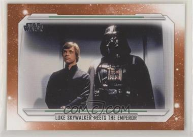 2019 Topps Star Wars Skywalker Saga - [Base] - Orange #76 - Luke Skywalker Meets the Emperor