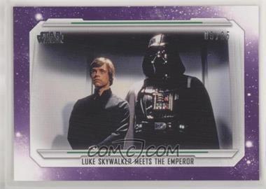 2019 Topps Star Wars Skywalker Saga - [Base] - Purple #76 - Luke Skywalker Meets the Emperor /25