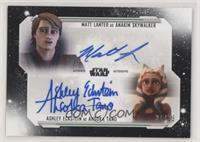 Matt Lanter as Anakin Skywalker, Ashley Eckstein as Ahsoka Tano #/25