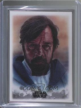 2019 Topps Star Wars: Stellar Signatures - Stellar Art Reproduction #46 - Luke Skywalker /100