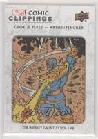George Perez The Infinity Gauntlet #4 #/94