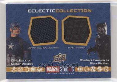 2019 Upper Deck Marvel Cinematic Universe 10th Anniversary - Eclectic Collection Dual Memorabilia #EC-CI - Captain America, Black Panther