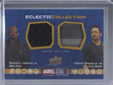2019 Upper Deck Marvel Cinematic Universe 10th Anniversary - Eclectic Collection Dual Memorabilia #EC-NP - Nick Fury, Tony Stark