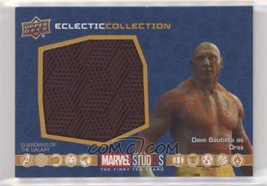 2019 Upper Deck Marvel Cinematic Universe 10th Anniversary - Eclectic Collection Memorabilia #EC-9 - Drax
