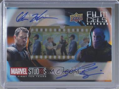 2019 Upper Deck Marvel Cinematic Universe 10th Anniversary - Film Cels Autographs Dual Achievement #FCD-HB - Josh Brolin, Chris Hemsworth