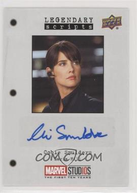 2019 Upper Deck Marvel Cinematic Universe 10th Anniversary - Legendary Scripts Autographs #LS-AH - Cobie Smulders