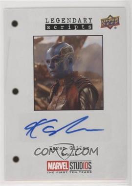 2019 Upper Deck Marvel Cinematic Universe 10th Anniversary - Legendary Scripts Autographs #LS-KG - Karen Gillan
