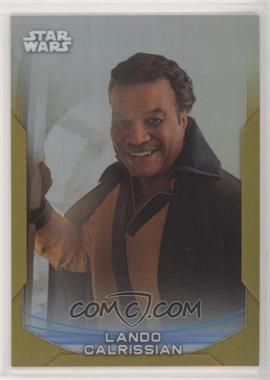 2020 Topps Star Wars Chrome Perspectives - [Base] - Gold Refractor #21-R - Lando Calrissian /50