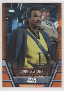 2020 Topps Star Wars Holocron - [Base] - Orange #RES-25 - Lando Calrissian /99