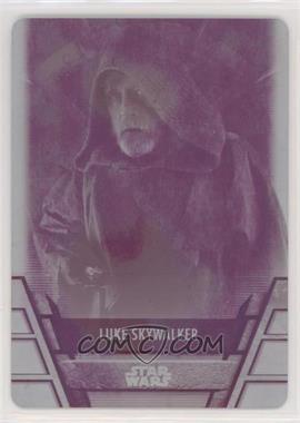 2020 Topps Star Wars Holocron - [Base] - Printing Plate Magenta #RES-14 - Luke Skywalker /1
