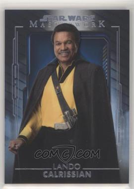 2020 Topps Star Wars Masterwork - [Base] - Blue #27 - Lando Calrissian