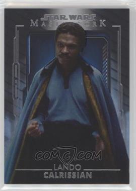 2020 Topps Star Wars Masterwork - [Base] - Blue #57 - Lando Calrissian