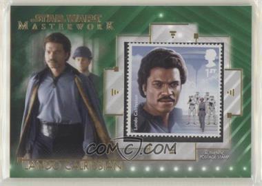 2020 Topps Star Wars Masterwork - Stamp Relics - Green #SC-LC - Lando Calrissian /99