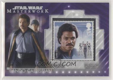 2020 Topps Star Wars Masterwork - Stamp Relics - Purple #SC-LC - Lando Calrissian /50