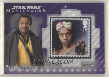 2020 Topps Star Wars Masterwork - Stamp Relics - Purple #SC-LJ - Lando Calrissian /50