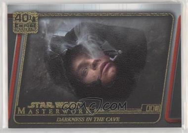 2020 Topps Star Wars Masterwork - The Empire Strikes Back 40th Anniversary - Canvas #ESB - 16 - Darkness in the Cave /25