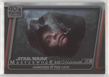 2020 Topps Star Wars Masterwork - The Empire Strikes Back 40th Anniversary - Rainbow Foil #ESB - 16 - Darkness in the Cave /299
