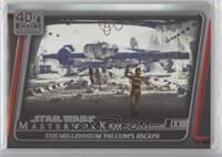 The Millennium Falcon's escape